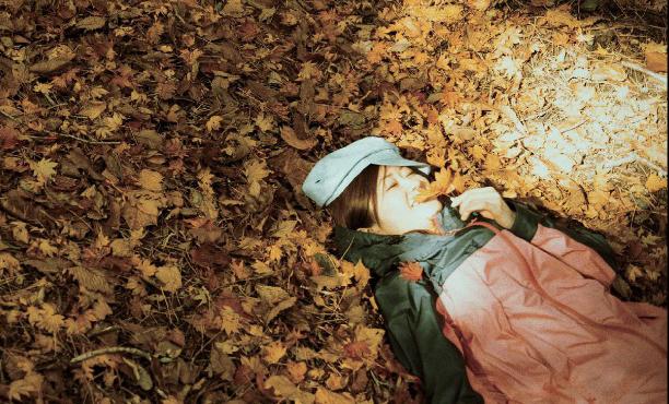 紅葉に癒される女子ひとり登山
